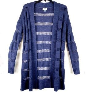 2/$14 Old Navy Knitted Blue Sweater Duster *FLAW*
